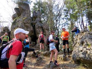 Kurze Rast beim Hersbrucker Schweiz-Marathon 2014