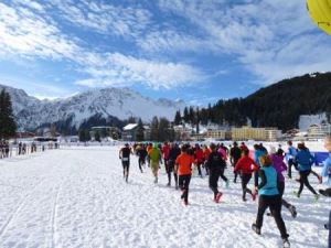 Start beim  Swiss Snow Walk & Run in Arosa 2014