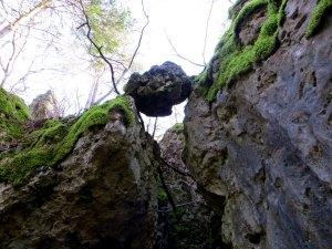 Joggingtour bei den Felsen zwischen Kleingesee und Allersdorf am 27.12.2015
