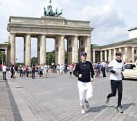 Jogging vor dem Brandenburger Tor